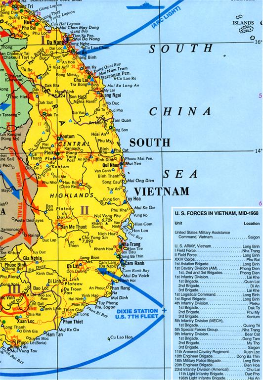 Vietnam War/Conflict Wall Map Poster